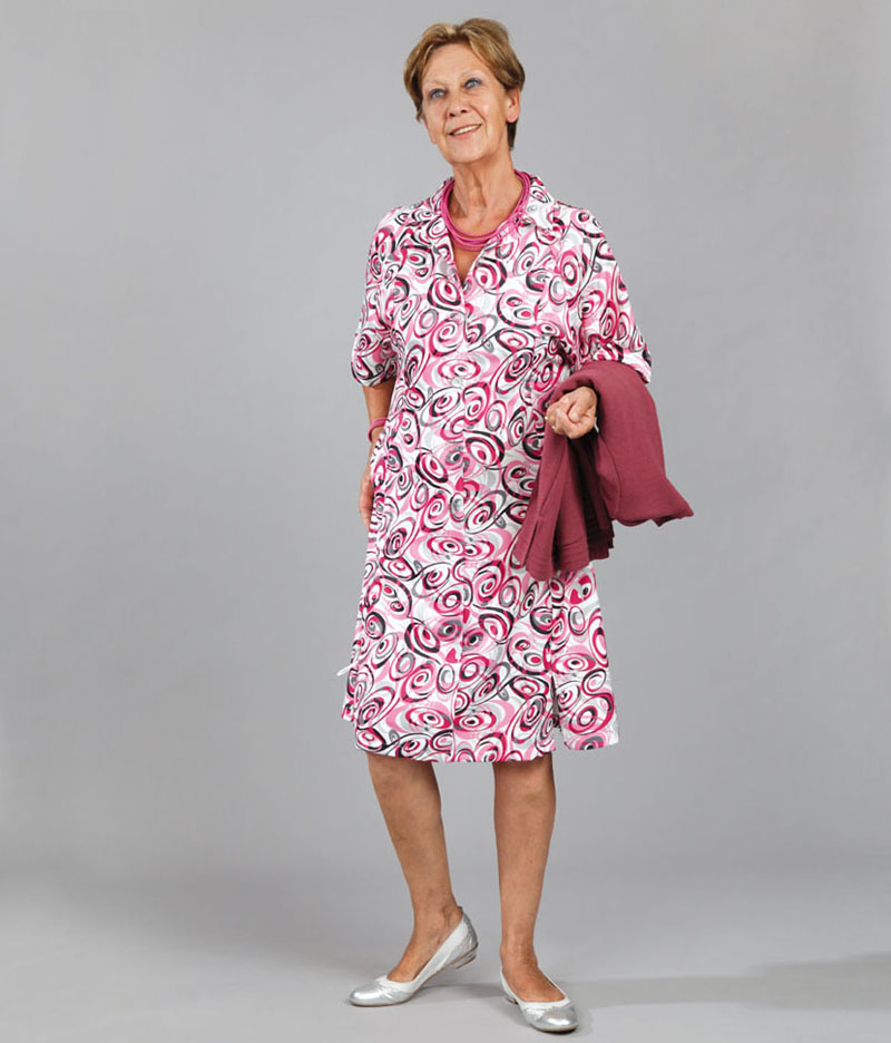 risoul robe manches 3 4 robe zip e v tements pour s niors. Black Bedroom Furniture Sets. Home Design Ideas